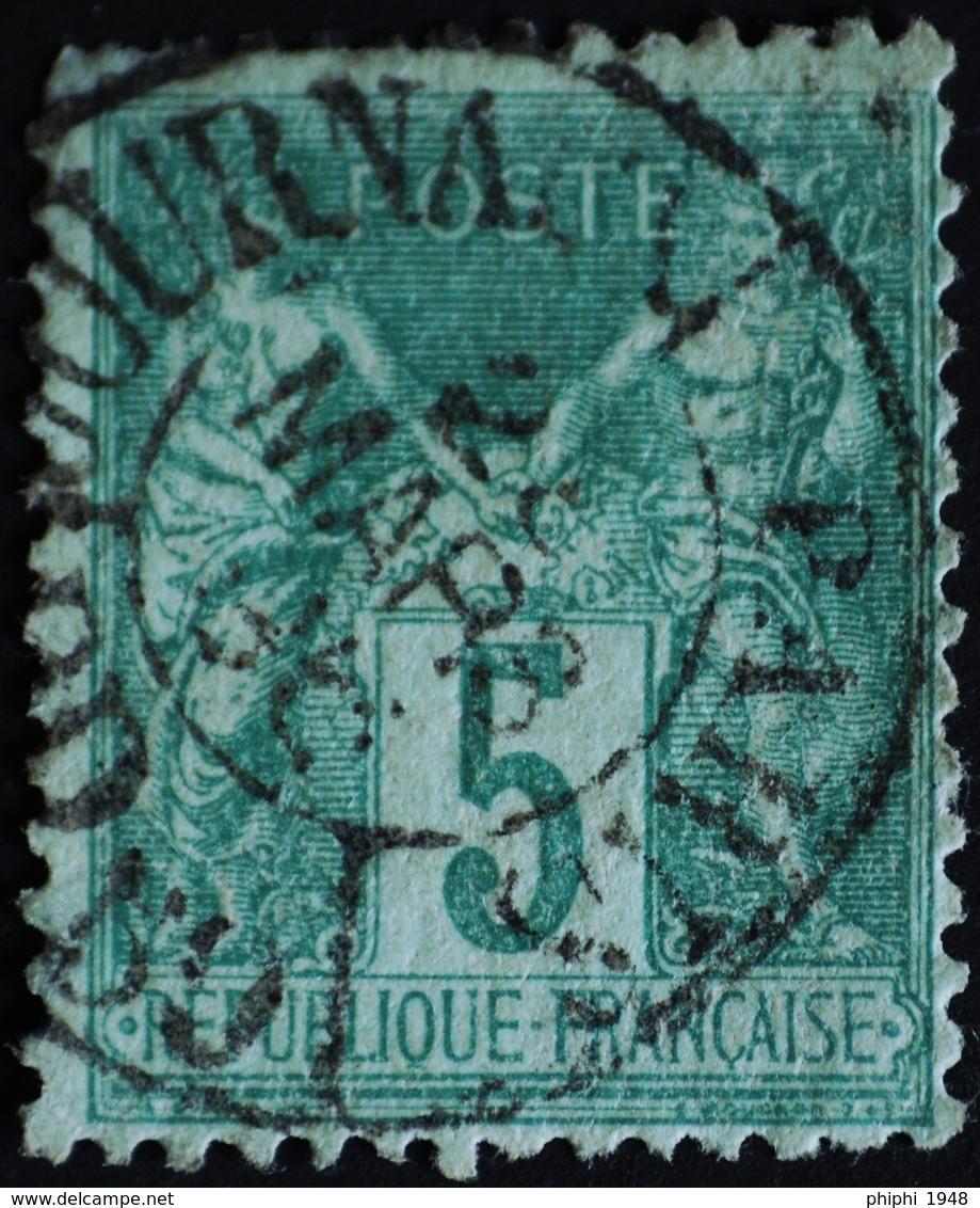 Sage N°75 Type Il O.(CAD) PARIS Journaux Mars 1896 (Bur 26 ) - 1876-1898 Sage (Type II)