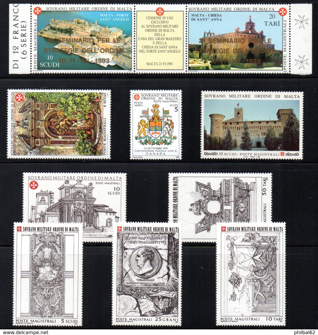 SMOM. Sovrano Militare Ordine Di Malta. Lot De Timbres ** - Malte (Ordre De)