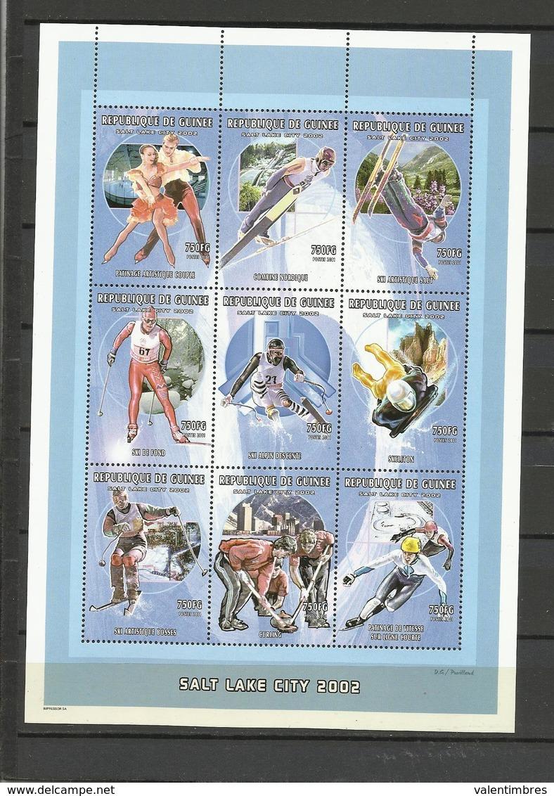 Guinée Jeux Olympiques YT**  2133/41 Sake Lake City  2002  Patinage Couple  Hockey   Ski - Winter 2002: Salt Lake City