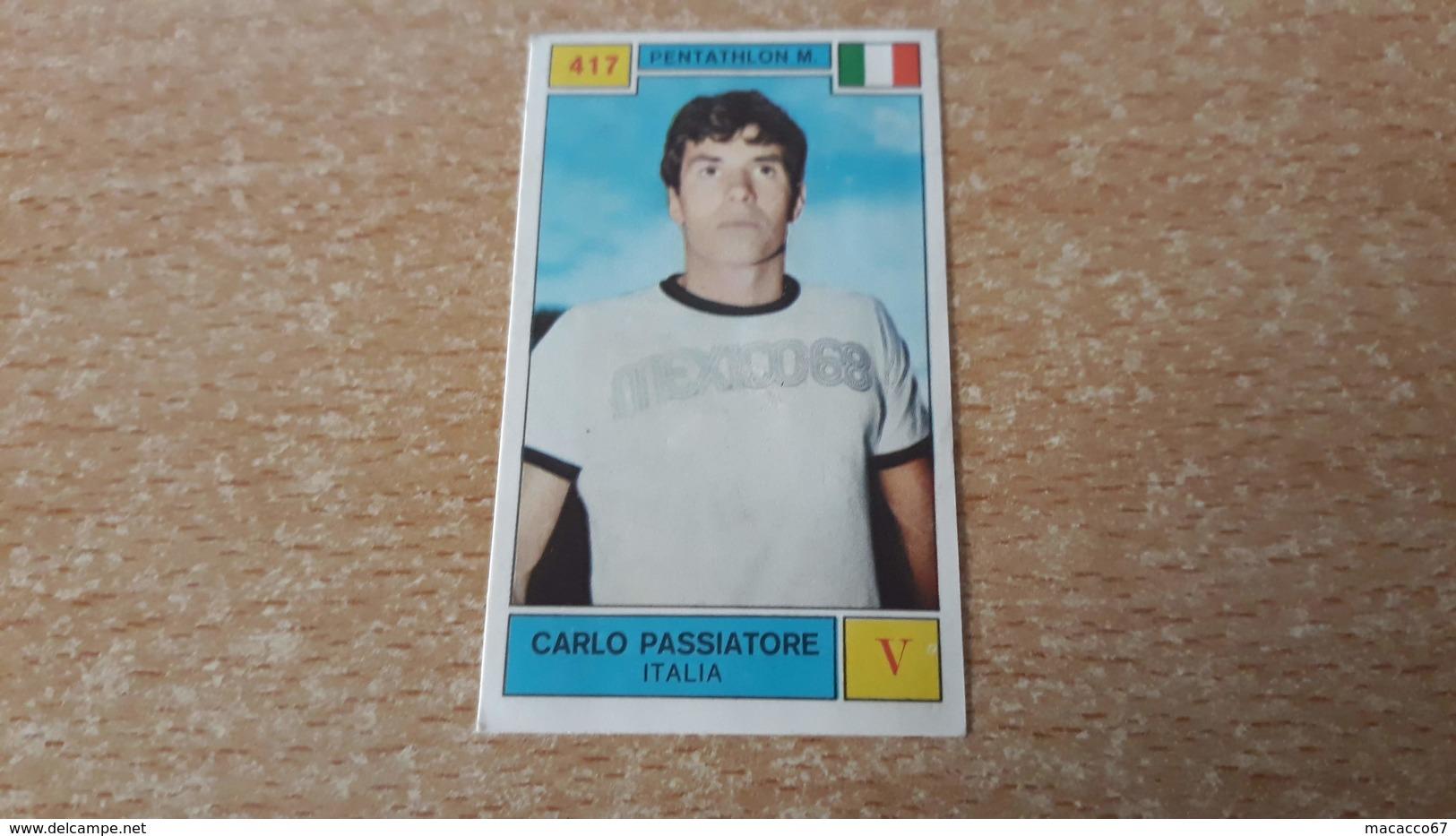 Figurina Panini Campioni Dello Sport 1969 - Carlo Passiatore - Panini