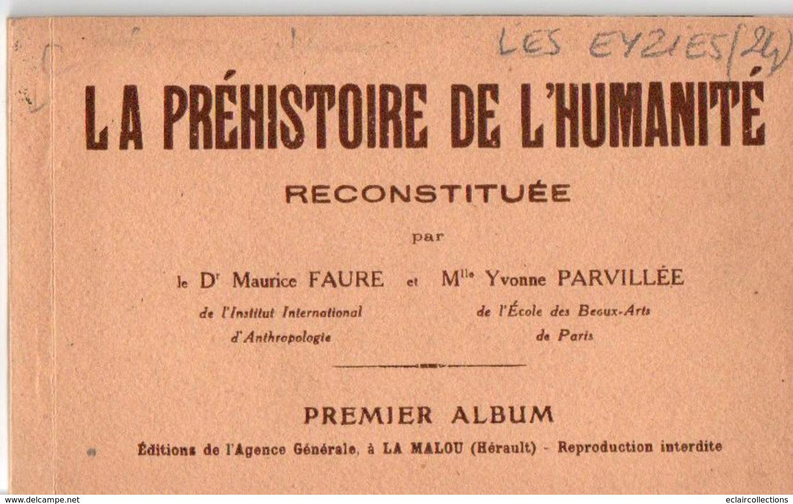 Les Eyzies       24     La Préhistoire De L'humanité Reconstituée  Carnet De 10 Vues      (voir Scan) - France
