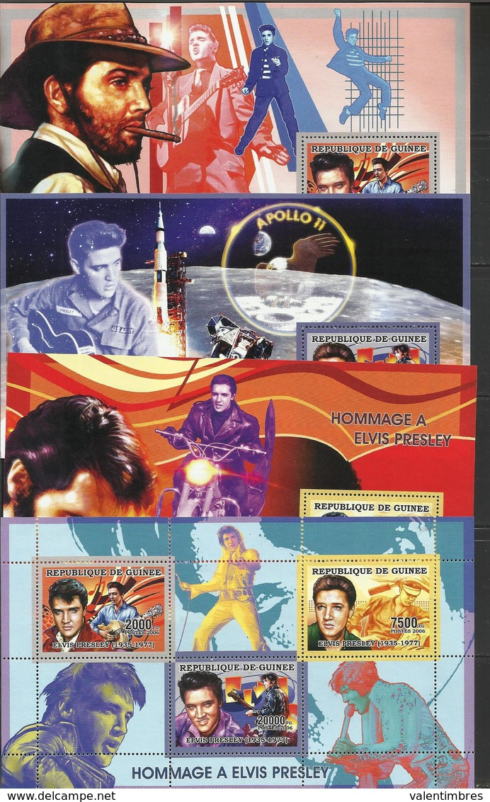 Guinée MusiqueYT**  2688/90 + BF 322/24 Elvis Presley - Muziek