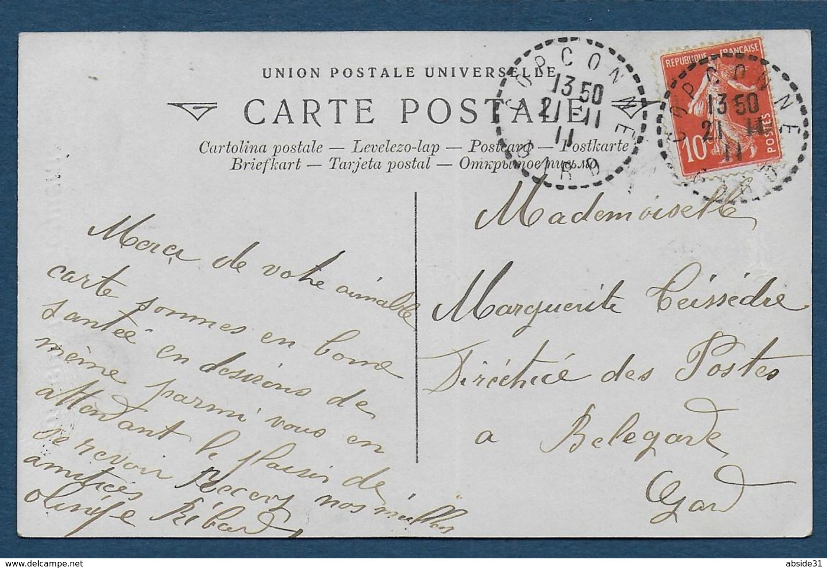 Gard - Cachet Pointillé De CORCONNE - Marcophilie (Lettres)