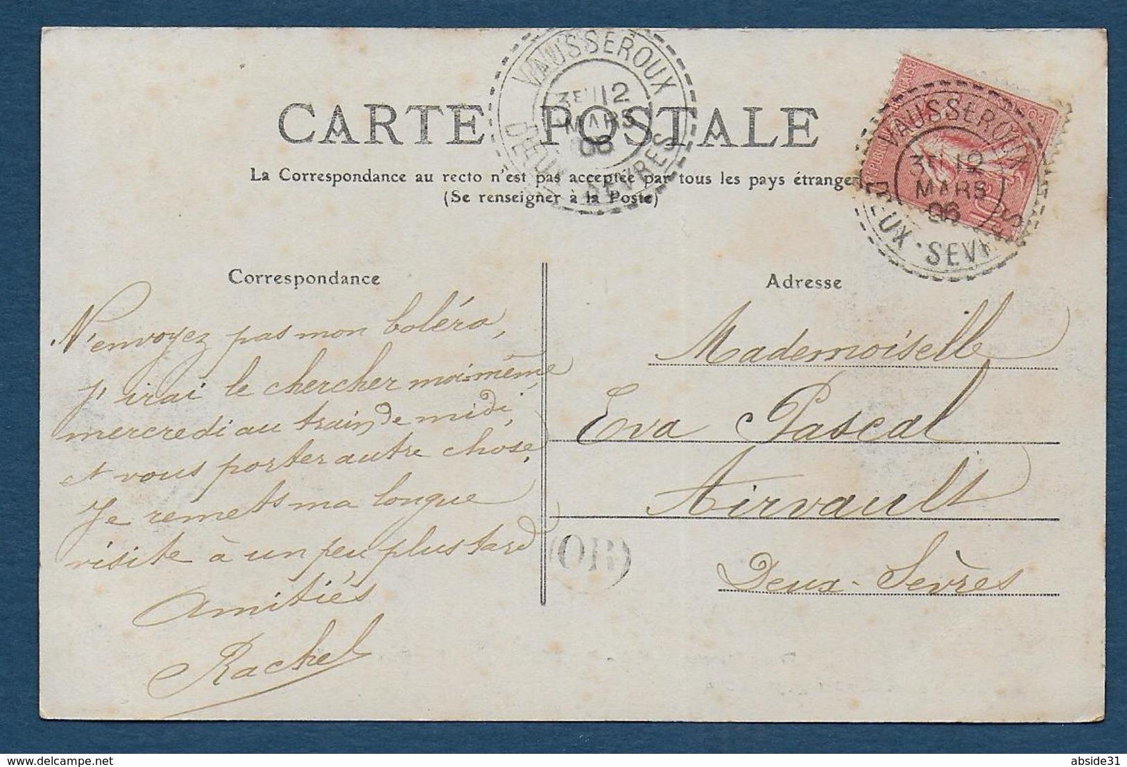 Deux Sèvres - Cachet Pointillé De VAUSSEROUX - Marcophilie (Lettres)