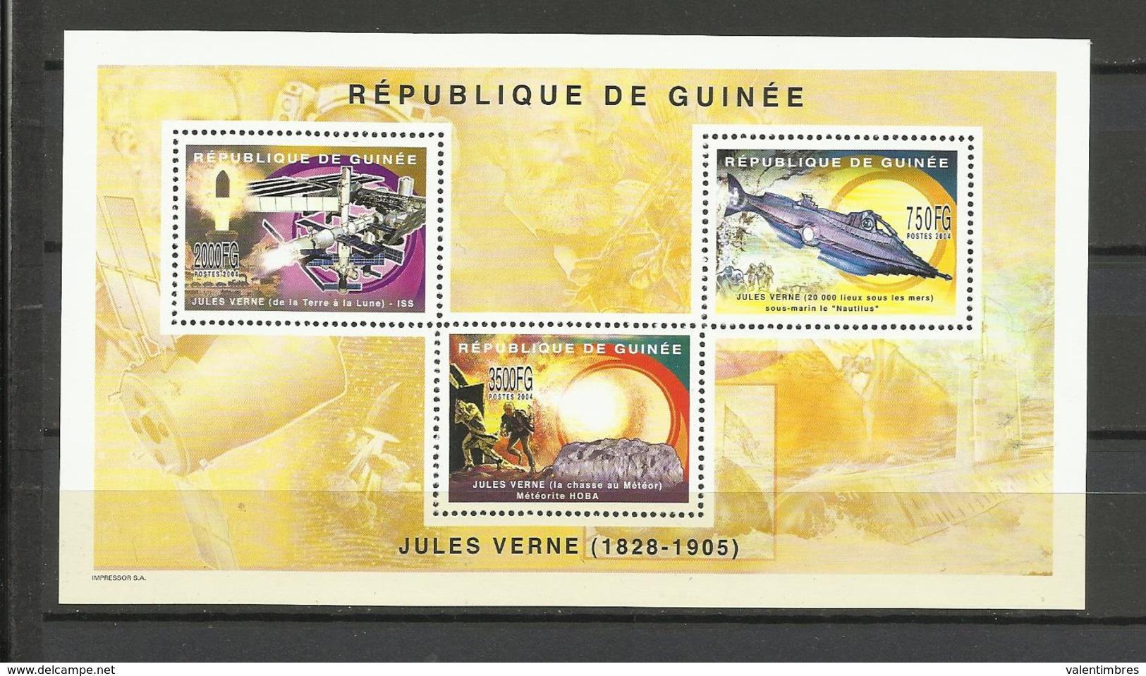 Guinée écrivains YT**  2623/25 Jules Verne - Schrijvers
