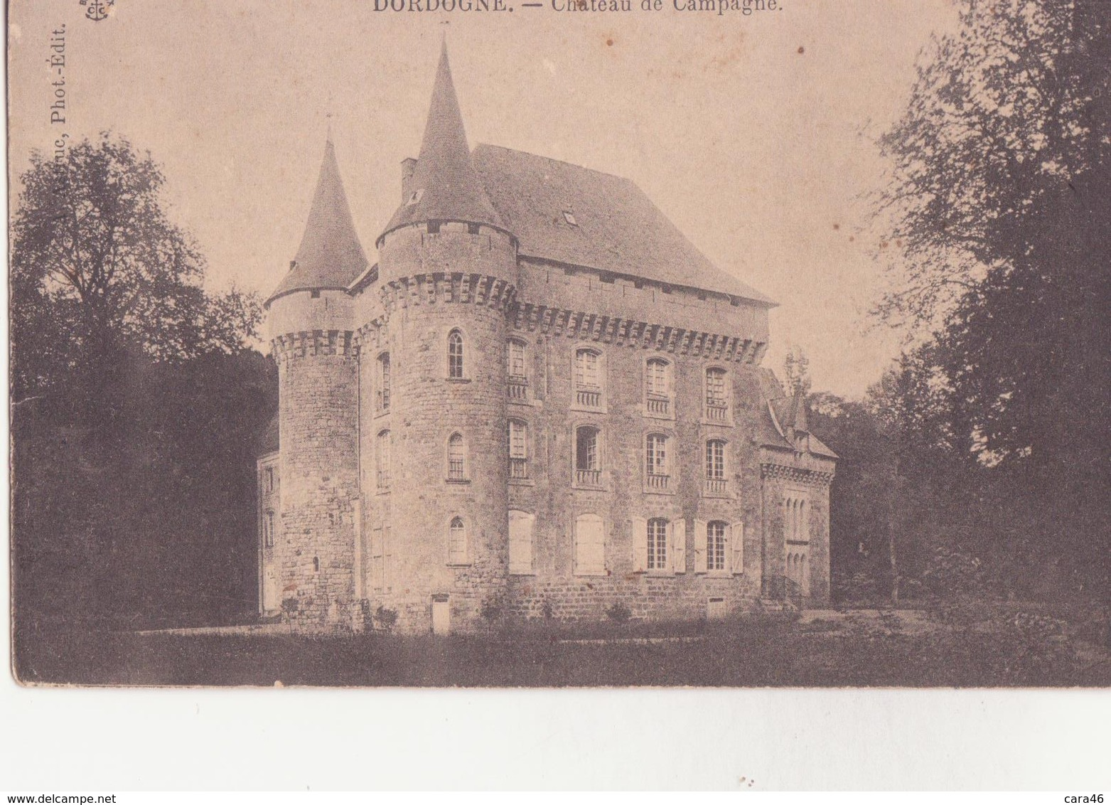 CPA - Château De Campagne - France