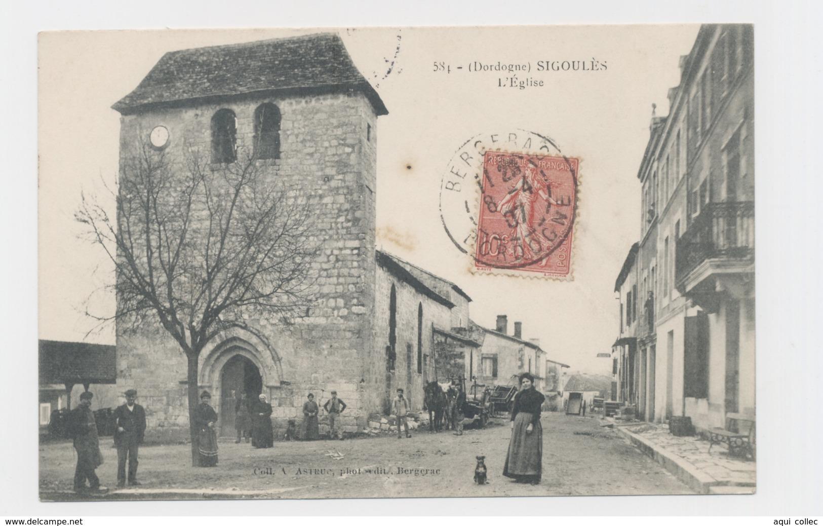 SIGOULES  24 PERIGORD DORDOGNE L'ÉGLISE - France