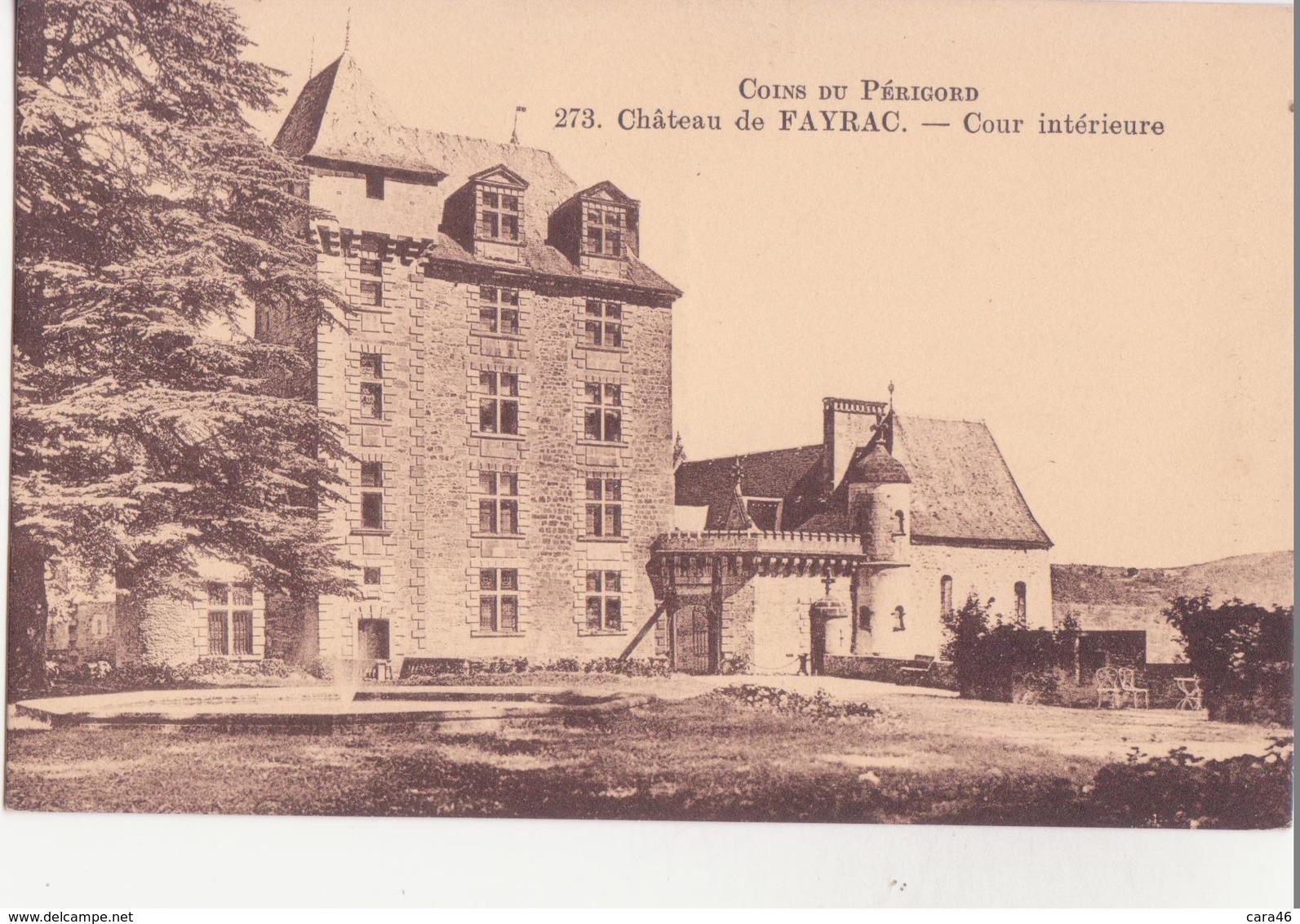 CPA - 273. Château De FAYRAC Cour Intérieure - France