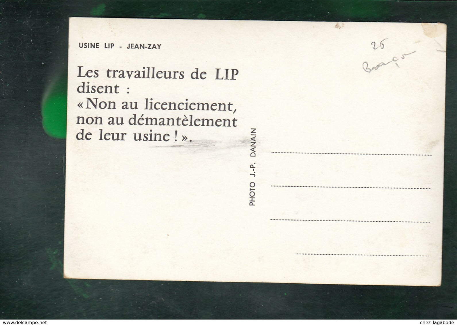 CP (25) Besançon - Usine LIP - Jean-Zay - Grève - Besancon