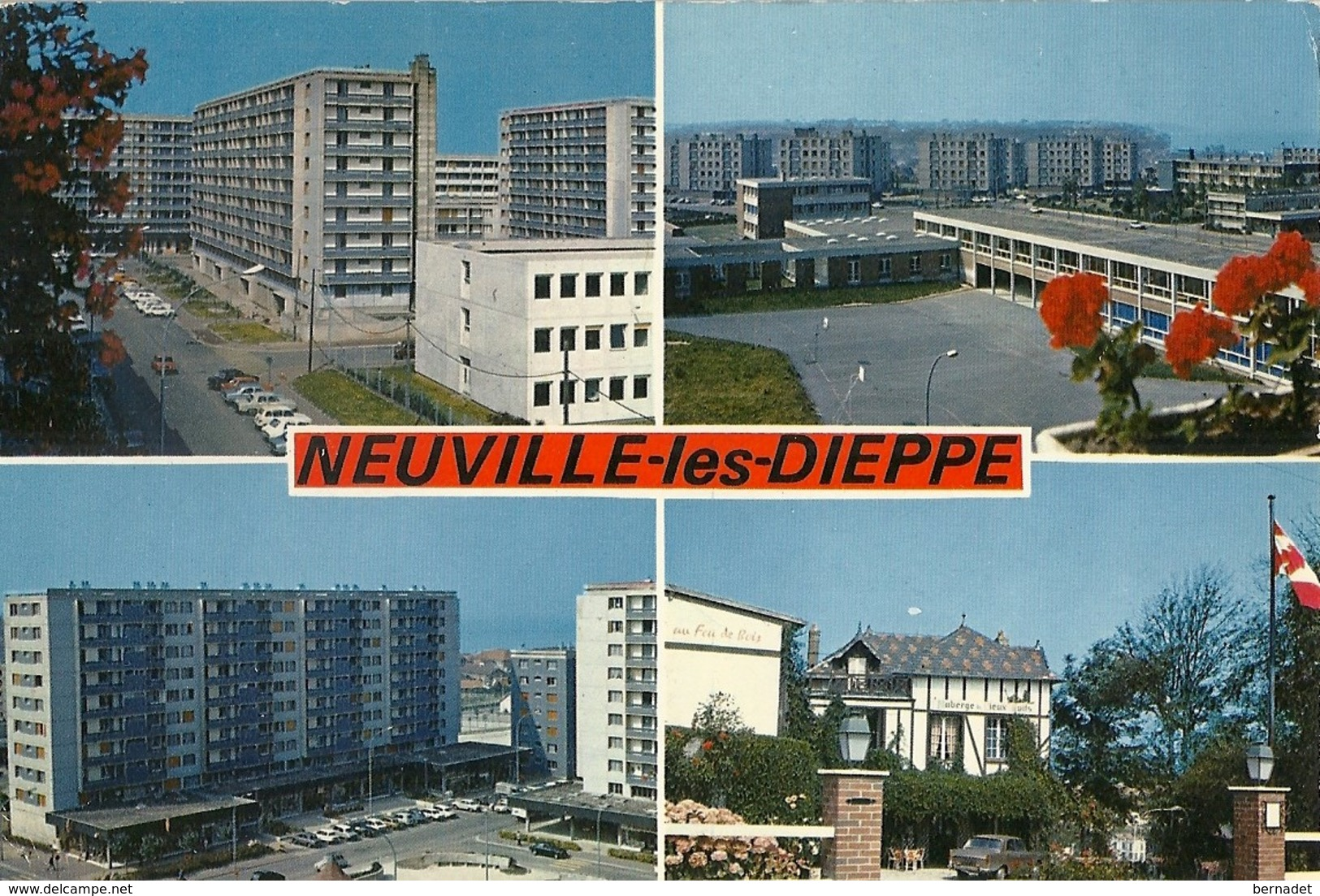 76 .. NEUVILLE LES DIEPPE ... NEUVILLE .. GROUPE SCOLAIRE .. CENTRE COMMERCIAL .. PUYS ... 1975 - France