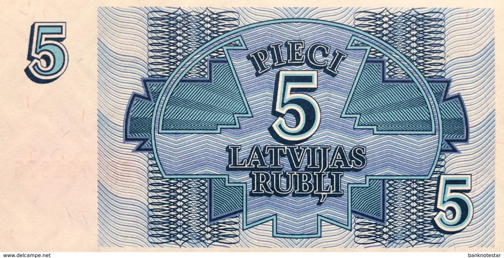 Latvia 5 Rubli, P-37 (1992) - UNC - Lettonie