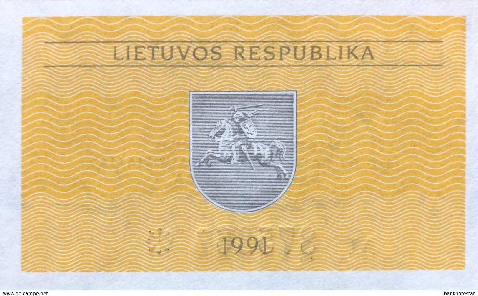 Lithuania 0.10 Talonas, P-29b (1991) - UNC - Lituanie