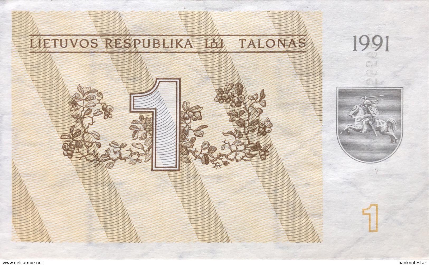 Lithuania 1 Talonas, P-32a (1991) - UNC - Lituanie