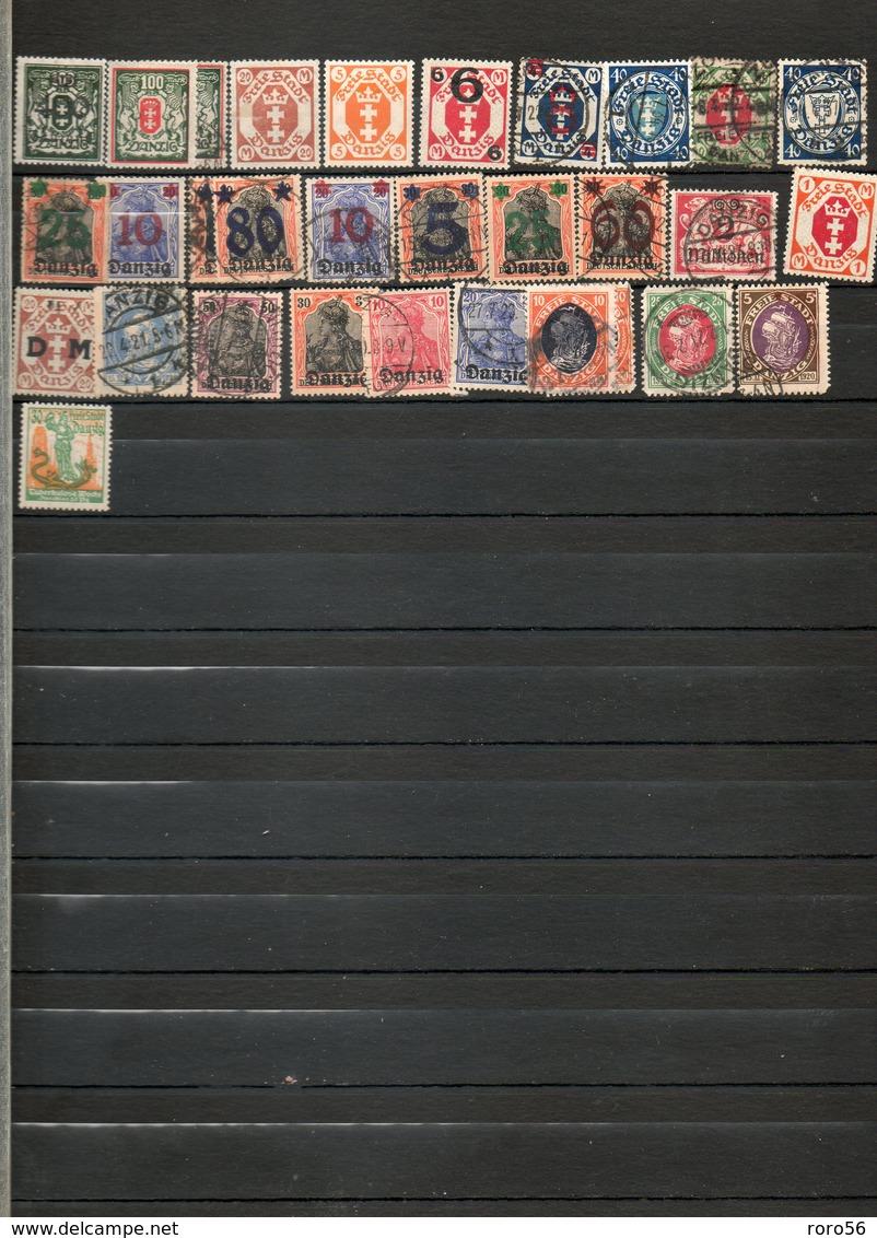 Timbres Du Monde-Grande-Bretagne Et Ses Colonies Bien Représentées-Des Centaines De TP Beaucoup Avant 1920-Forte Cote. - Timbres