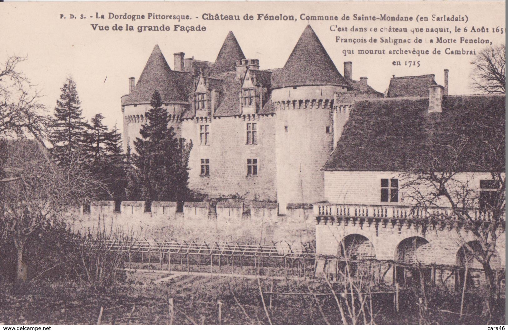 CPA - Château De FENELON, Vue De La Grande Façade - France