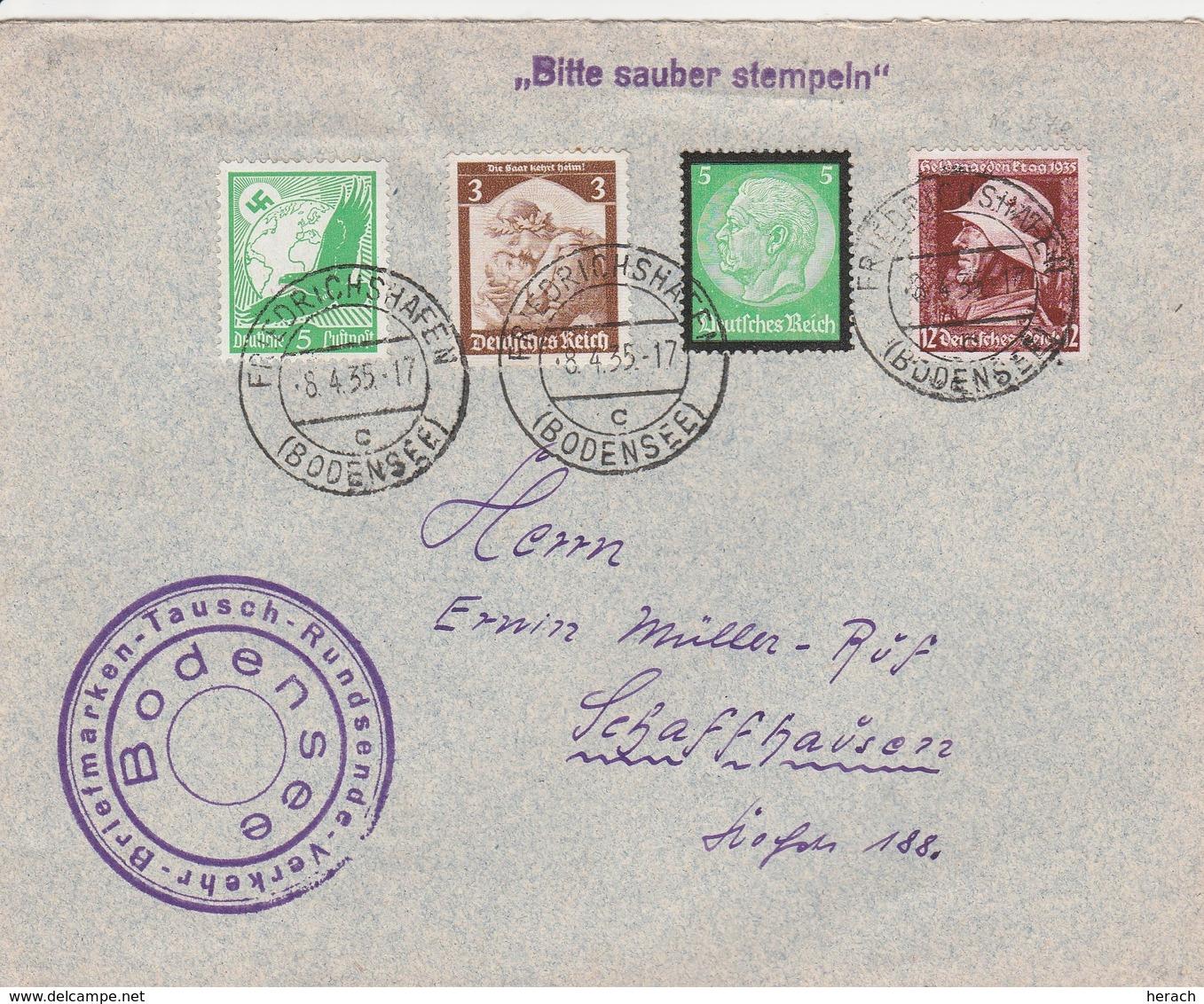 Allemagne Lettre Friedrichshafen Pour La Suisse 1935 - Allemagne
