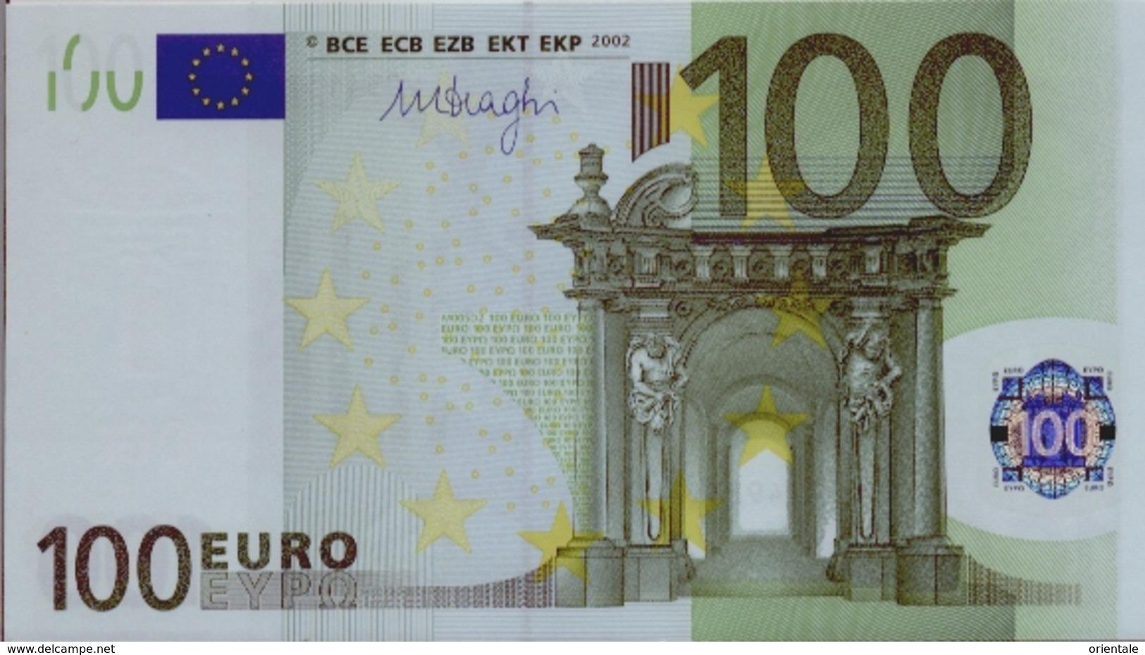 SPAIN 100 Euro Draghi M005 UNC - 20 Euro