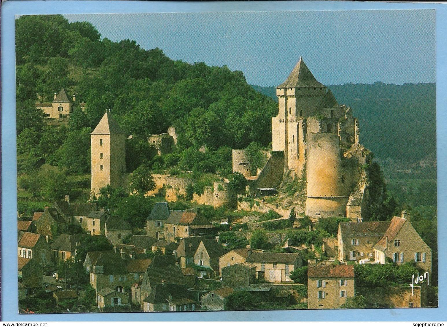 Castelnaud-la-Chapelle (24) Au Pied Du Village Le Château De Castelnaud XIIe Et XVe S. 2 Scans - France