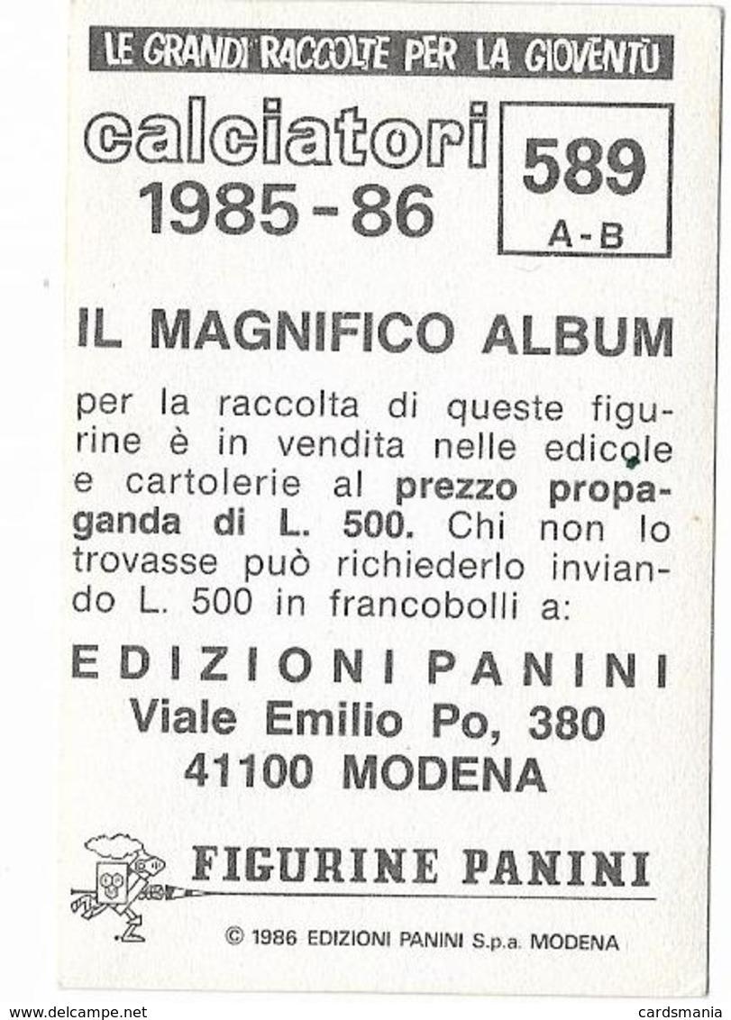 SCUDETTO LUCCHESE-MASSESE PANINI 1985/86 N° 589 Con Velina - Edizione Italiana
