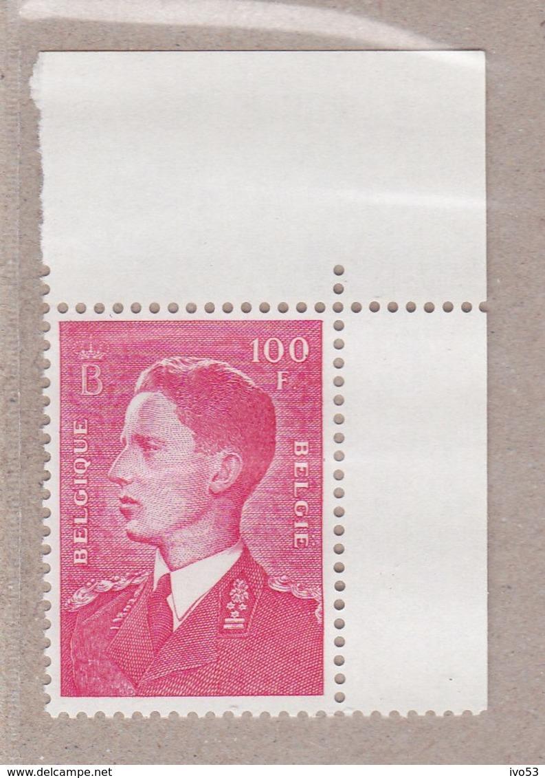 1958 Nr 1075P3** Postfris Zonder Scharnier, Koning Boudewijn,type Marchand.Fosforescerend Papier. - Belgique