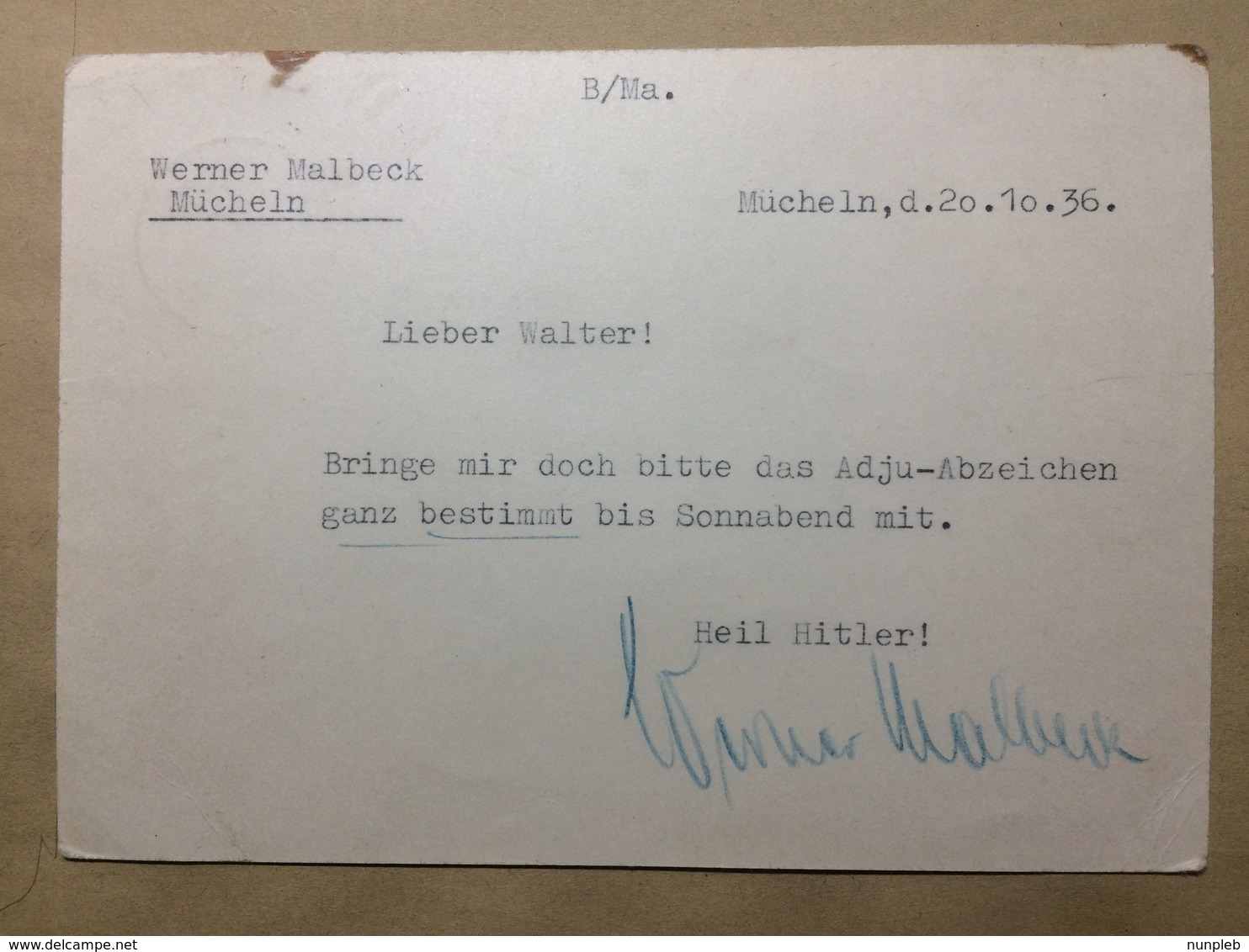 GERMANY - 1936 Postcard Mi P 263 Winterhilfswerk Spatenstich Autobahn - Munchen To Mucheln-Neubiendorf - Allemagne
