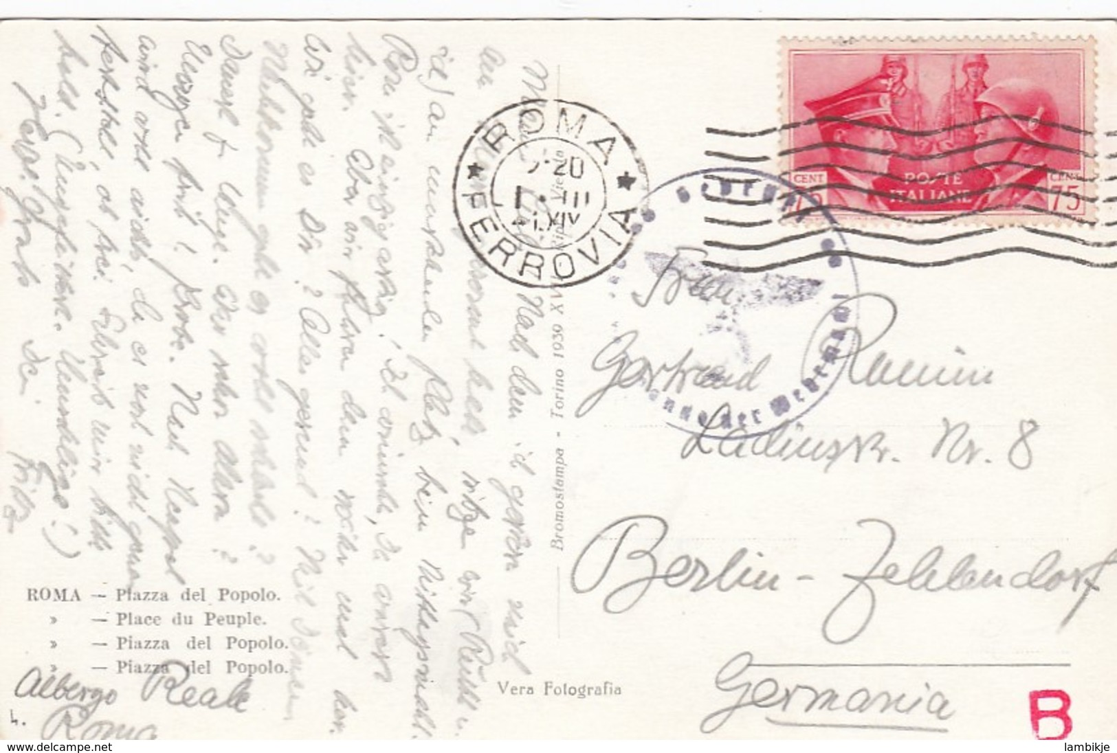 Italy Postcard 1941 - Machine Stamps (ATM)