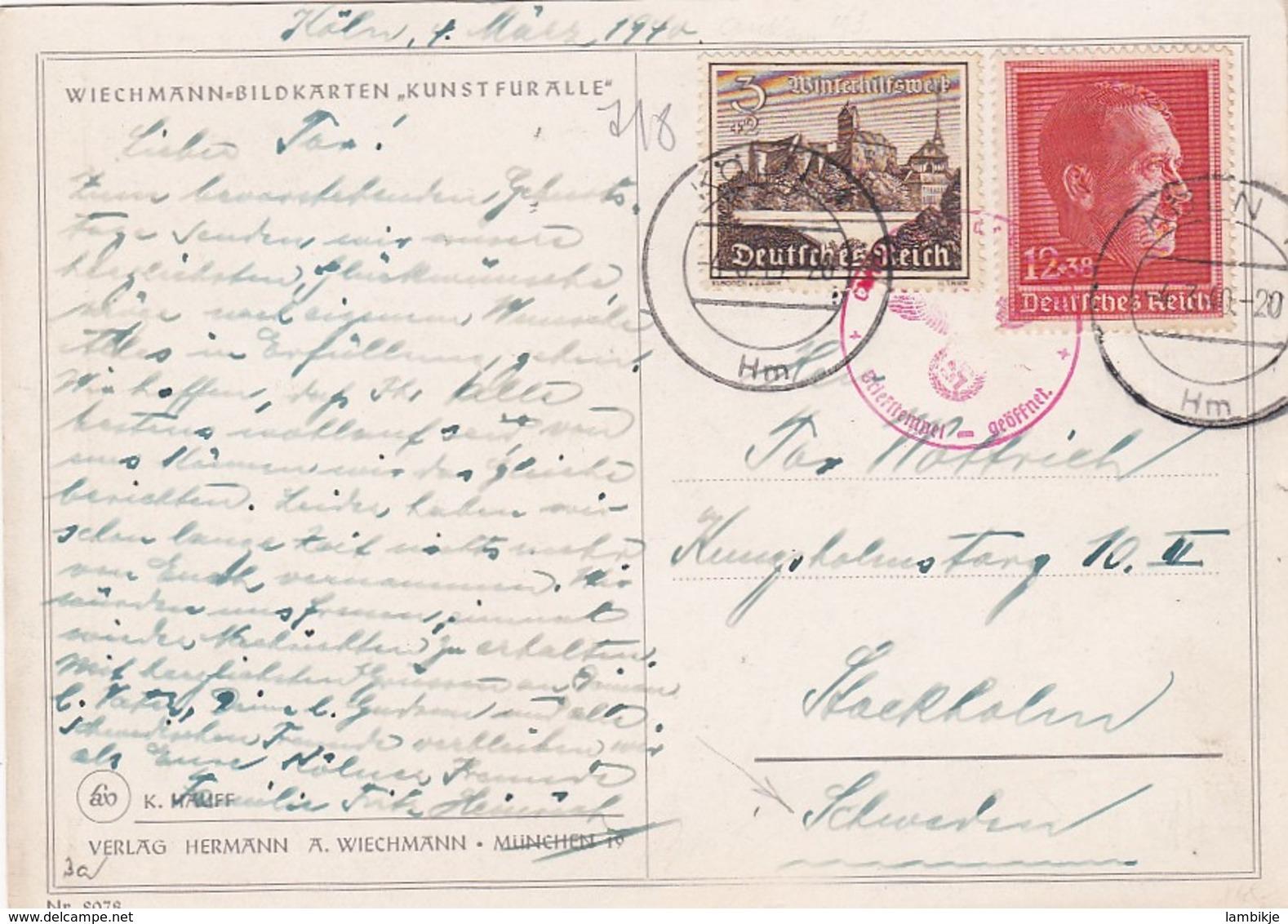 Deutsches Reich Postkarte 1940 - Briefe U. Dokumente