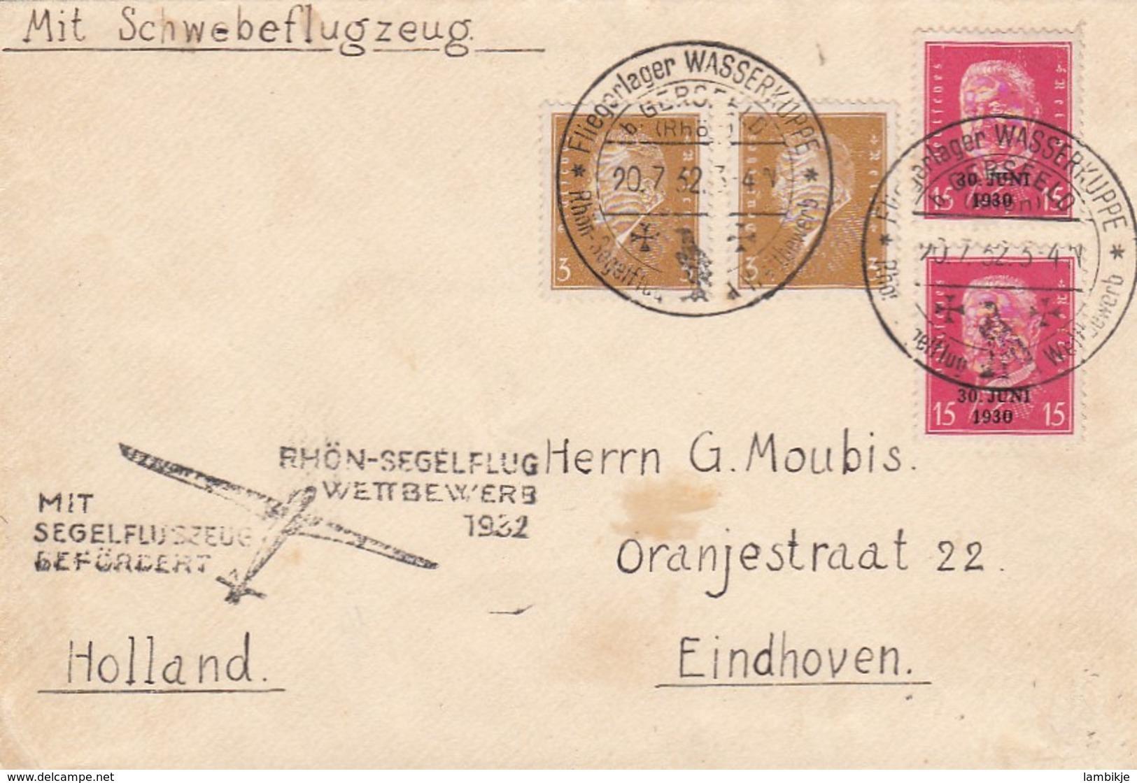 Deutsches Reich Brief 1932 Rhön-Segelflug - Briefe U. Dokumente