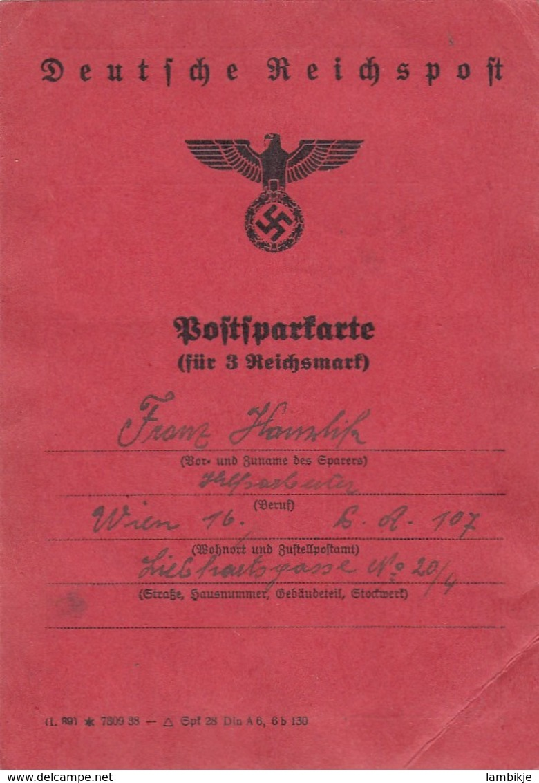Deutsches Reich Dokument 1938 - Deutschland