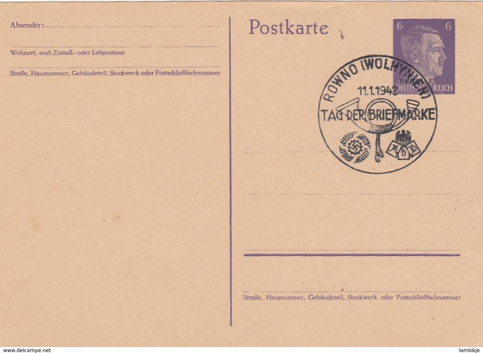 Deutsches Reich Ukraine Postkarte P2 1942 - Besetzungen 1938-45