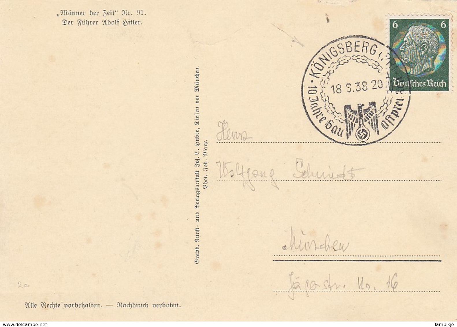 Deutsches Reich Propaganda Postkarte 1938 - Briefe U. Dokumente