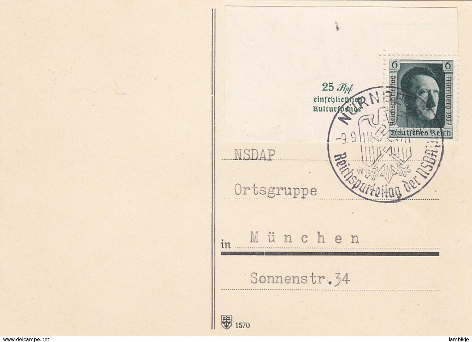 Deutsches Reich Propaganda Postkarte 1937 - Briefe U. Dokumente