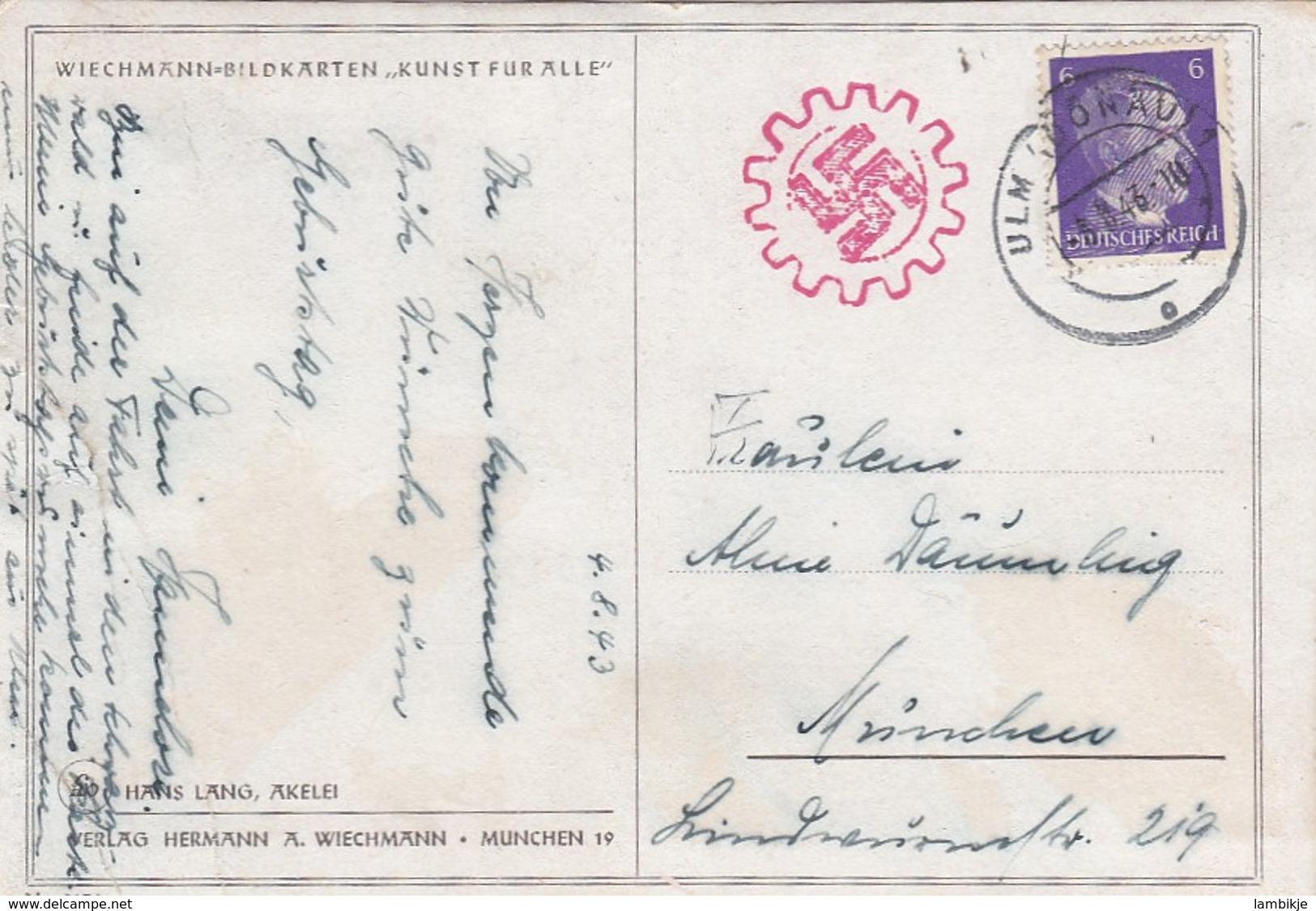 Deutsches Reich Propaganda Postkarte 1943 - Briefe U. Dokumente
