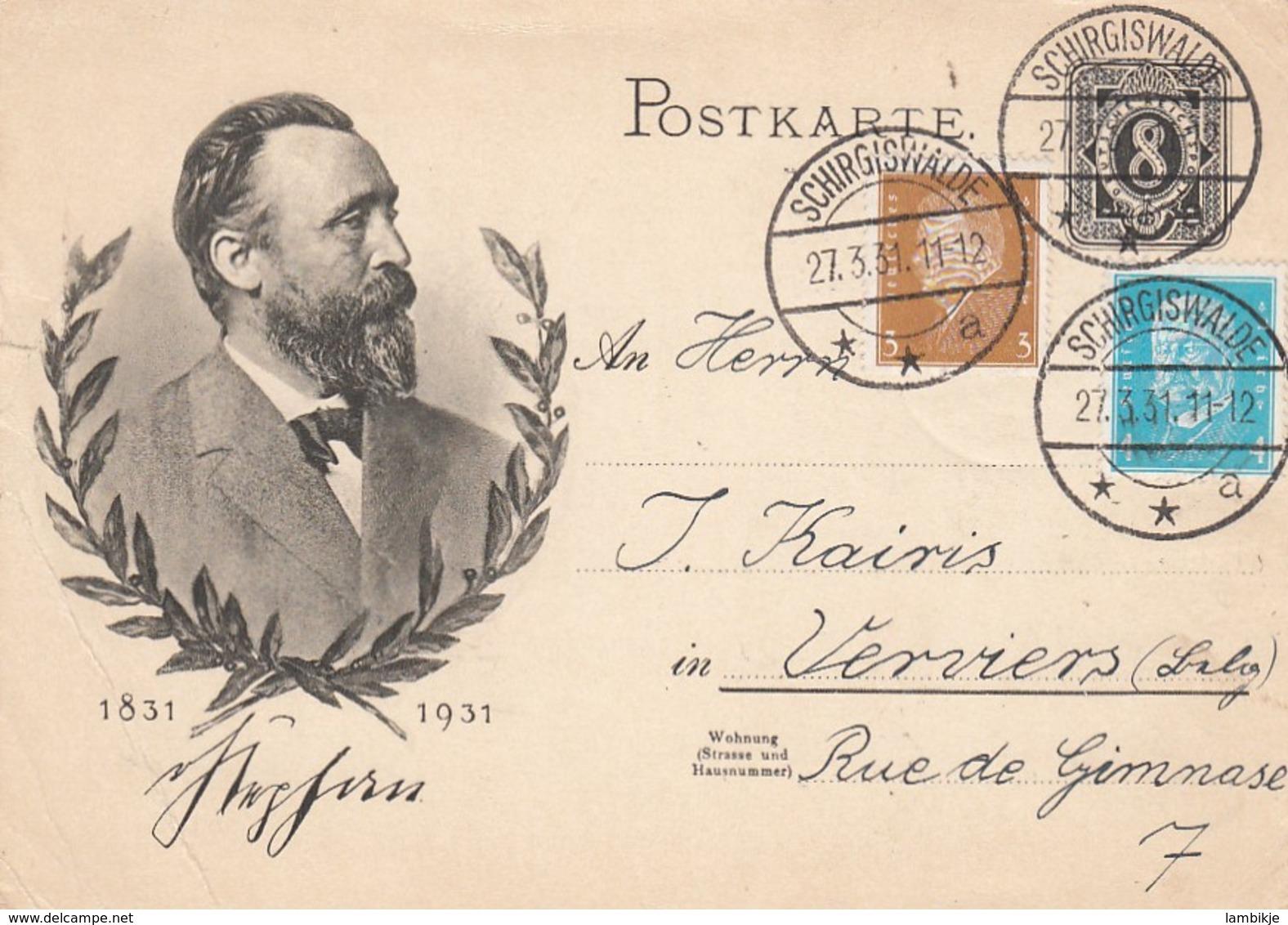 Deutsches Reich Postkarte P211 1931 - Briefe U. Dokumente