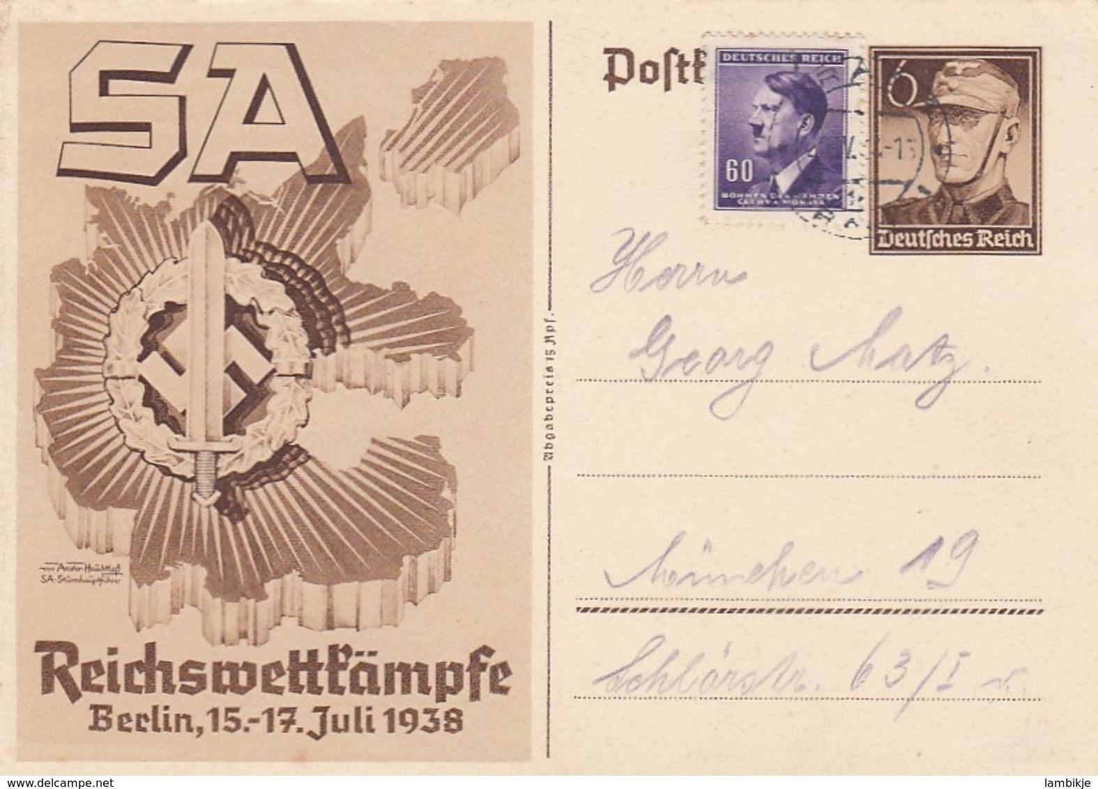 Deutsches Reich Postkarte P271 1938 - Briefe U. Dokumente
