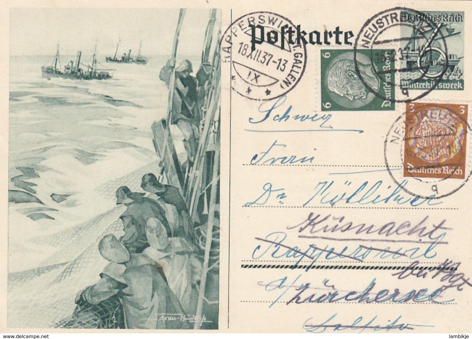 Deutsches Reich Postkarte P266 1937 - Briefe U. Dokumente
