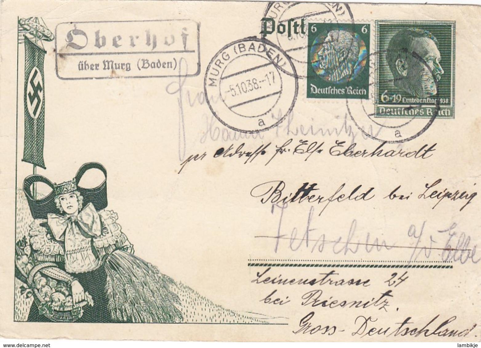 Deutsches Reich Postkarte P268 1938 - Briefe U. Dokumente