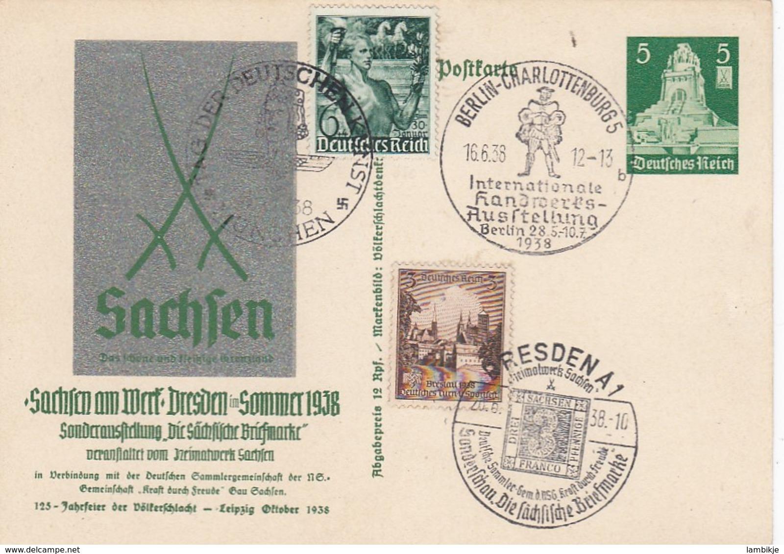 Deutsches Reich Postkarte P269 1938 - Briefe U. Dokumente