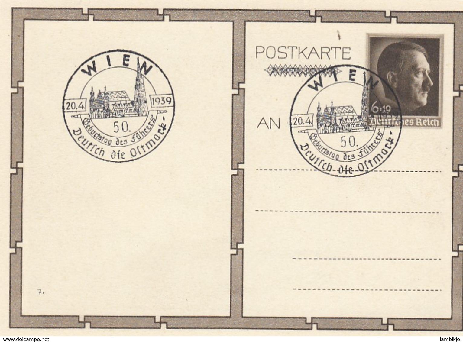 Deutsches Reich Postkarte P278/01 1939 - Deutschland