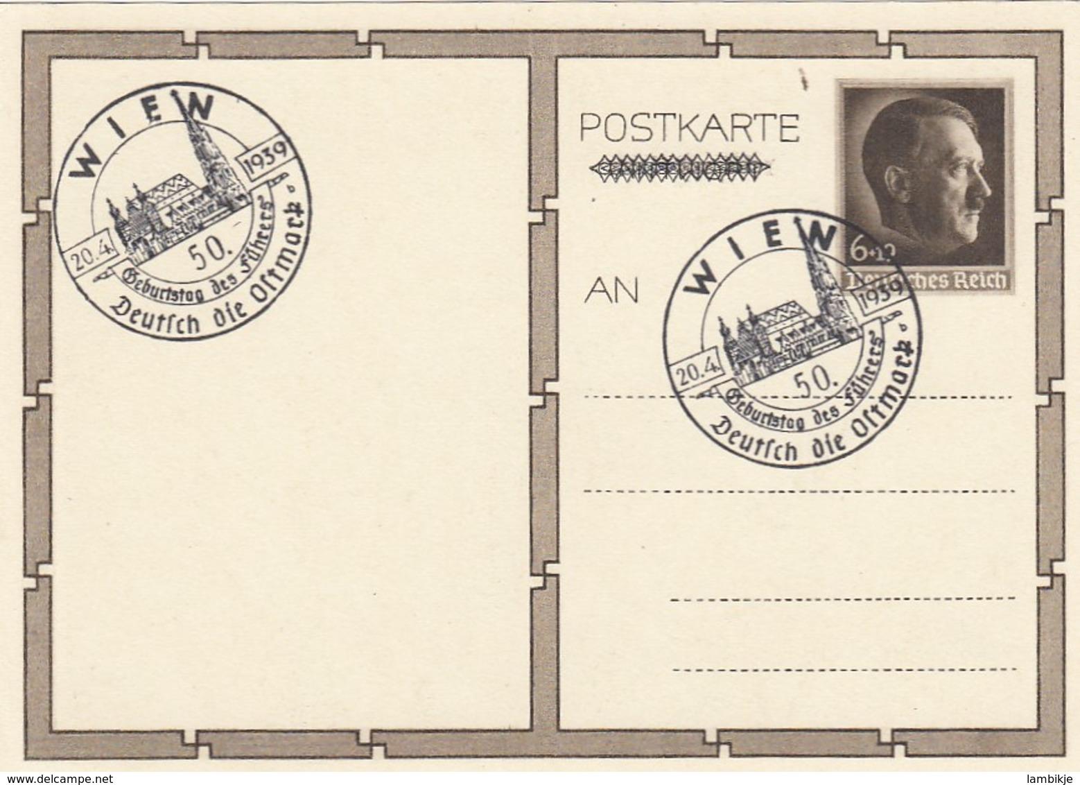 Deutsches Reich Postkarte P278/03 1939 - Briefe U. Dokumente