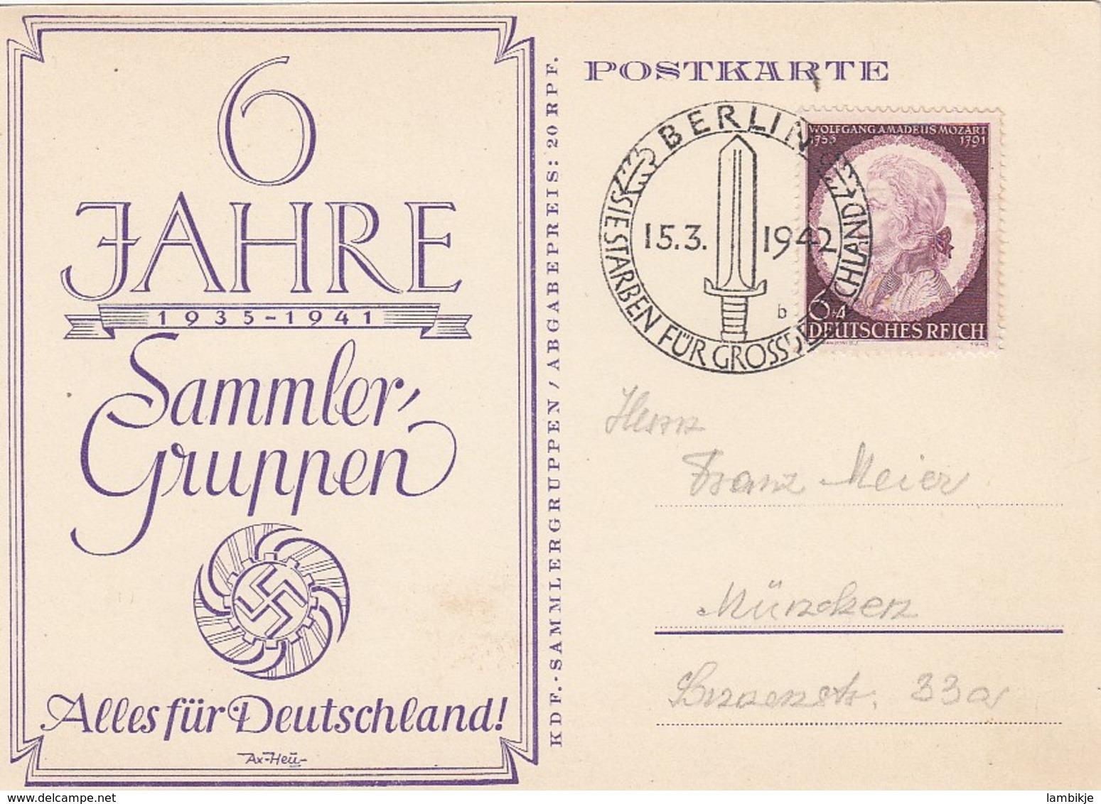 Deutsches Reich Postkarte 1942 - Briefe U. Dokumente