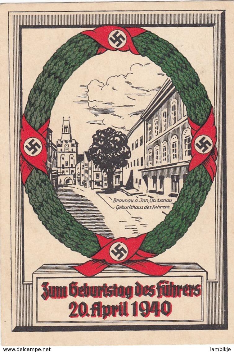Deutsches Reich Postkarte Propaganda 1940 Geburtstag Des Fuhrers - Deutschland