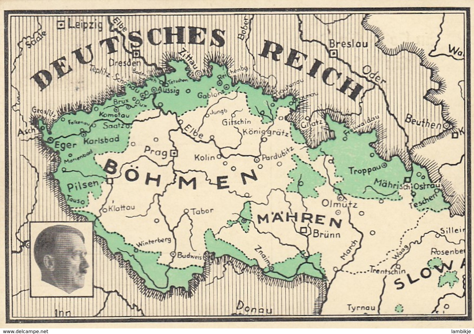 Deutsches Reich Postkarte Propaganda 1938 - Briefe U. Dokumente