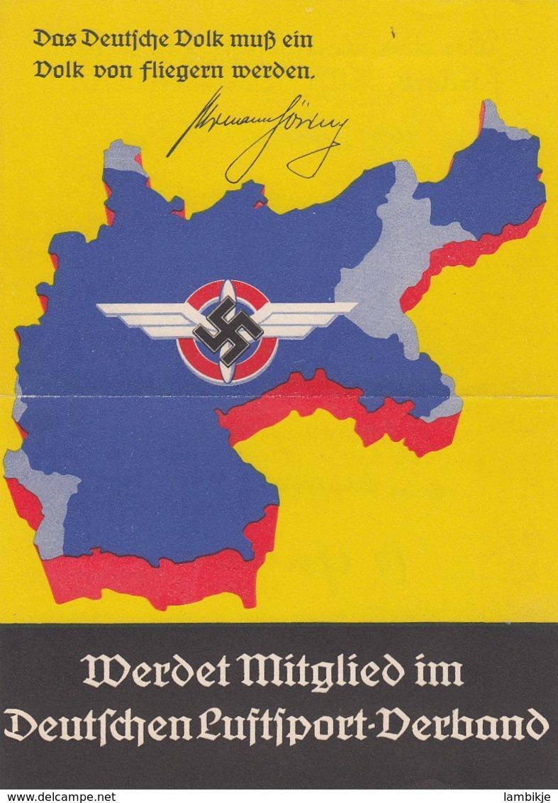 Deutsches Reich Gedenlblat Propaganda 1938 Pflieger - Briefe U. Dokumente