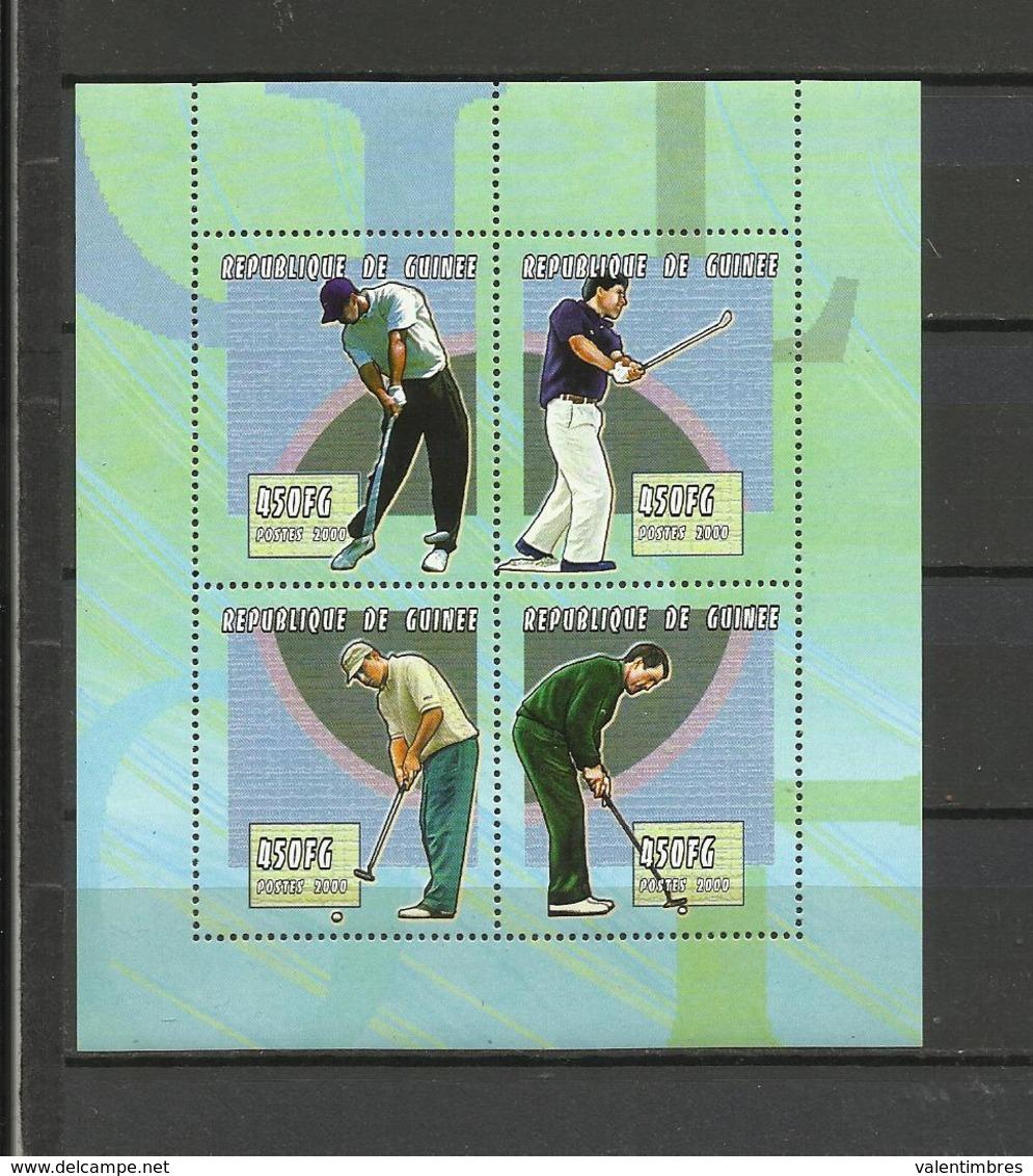 Guinée  YT**  1864 BG/BK  Joueurs Golf - Golf