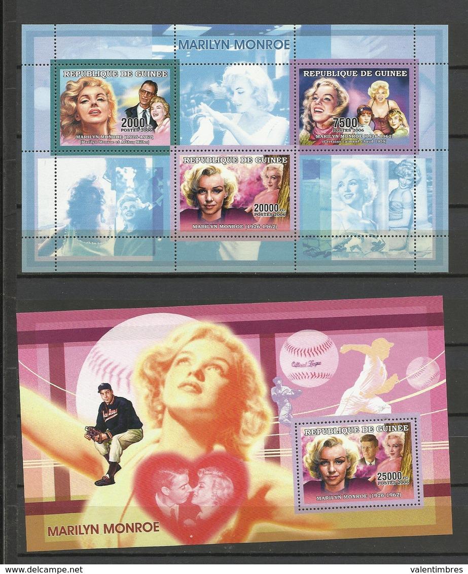Guinée  YT**2924/30 + BF  Marilyn Monroe Film Cinéma - Film