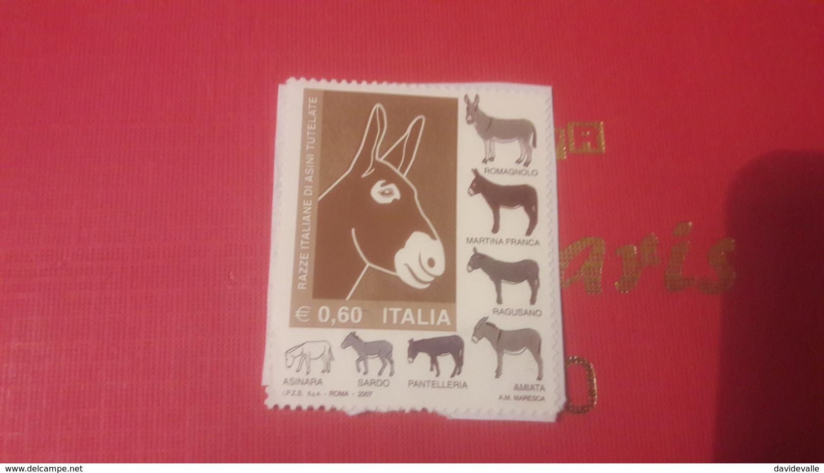 2007 Razza Italiane Di Asini Tutelate - 6. 1946-.. Repubblica