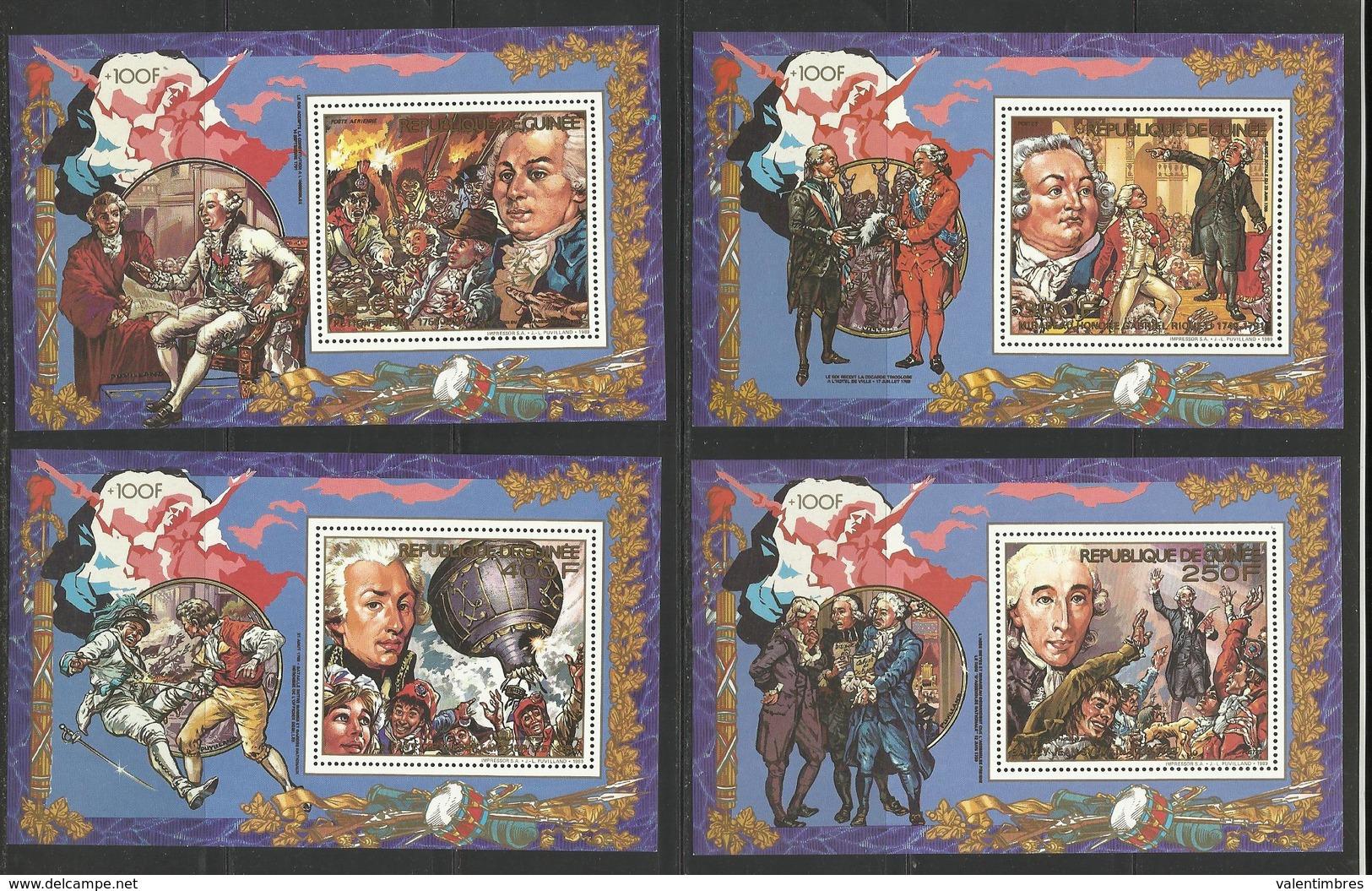 Guinée YT**  4  BF 84/87 Révolution Française - Franse Revolutie