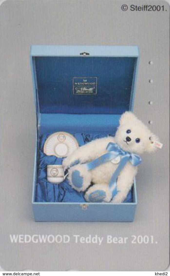 Télécarte Japon / 110-016 - Jouet - OURS NOUNOURS - STEIFF TEDDY BEAR * GERMANY Rel. ** Japan Phonecard - 708 - Jeux