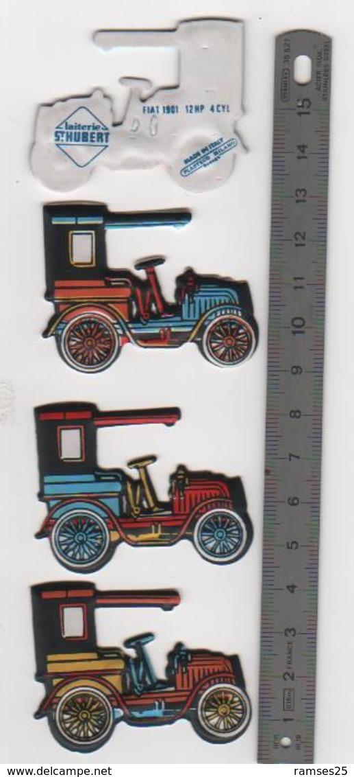 3 Figurines En Mousse Fiat 1901 .12HP  Laiterie Saint Hubert Année 80 (11) - Figurines